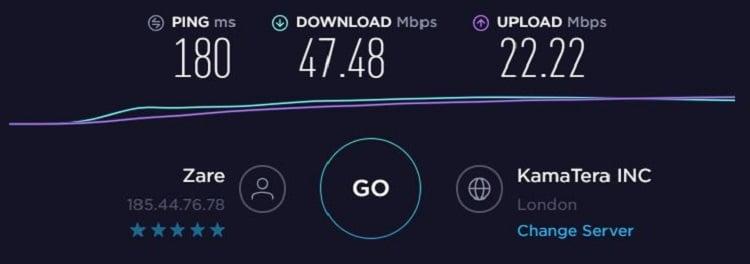 Nord Speedtest - UK