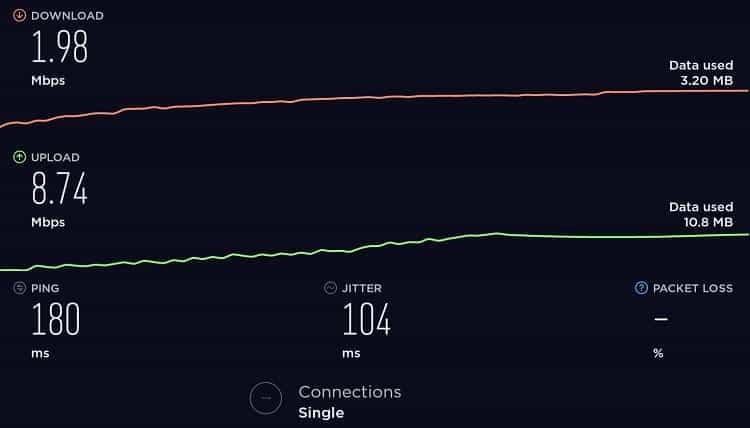 Speedtest - Thunder VPN France-min