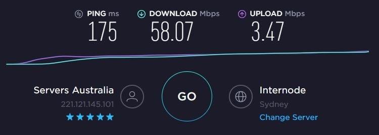 FastestVPN Speed - AU