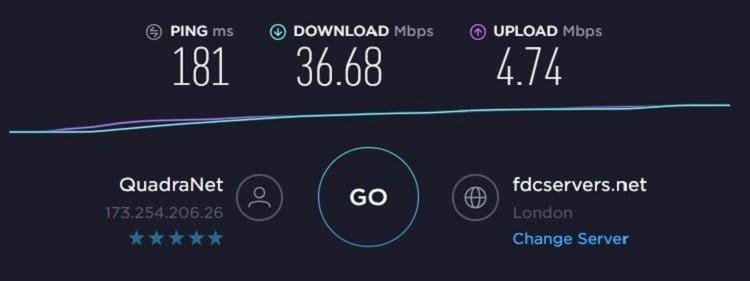 FastestVPN Speed - EU