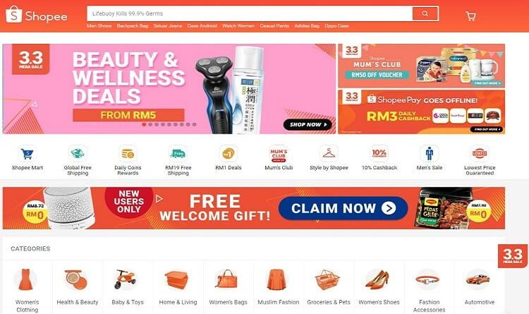 Shopee 3.3 Sale